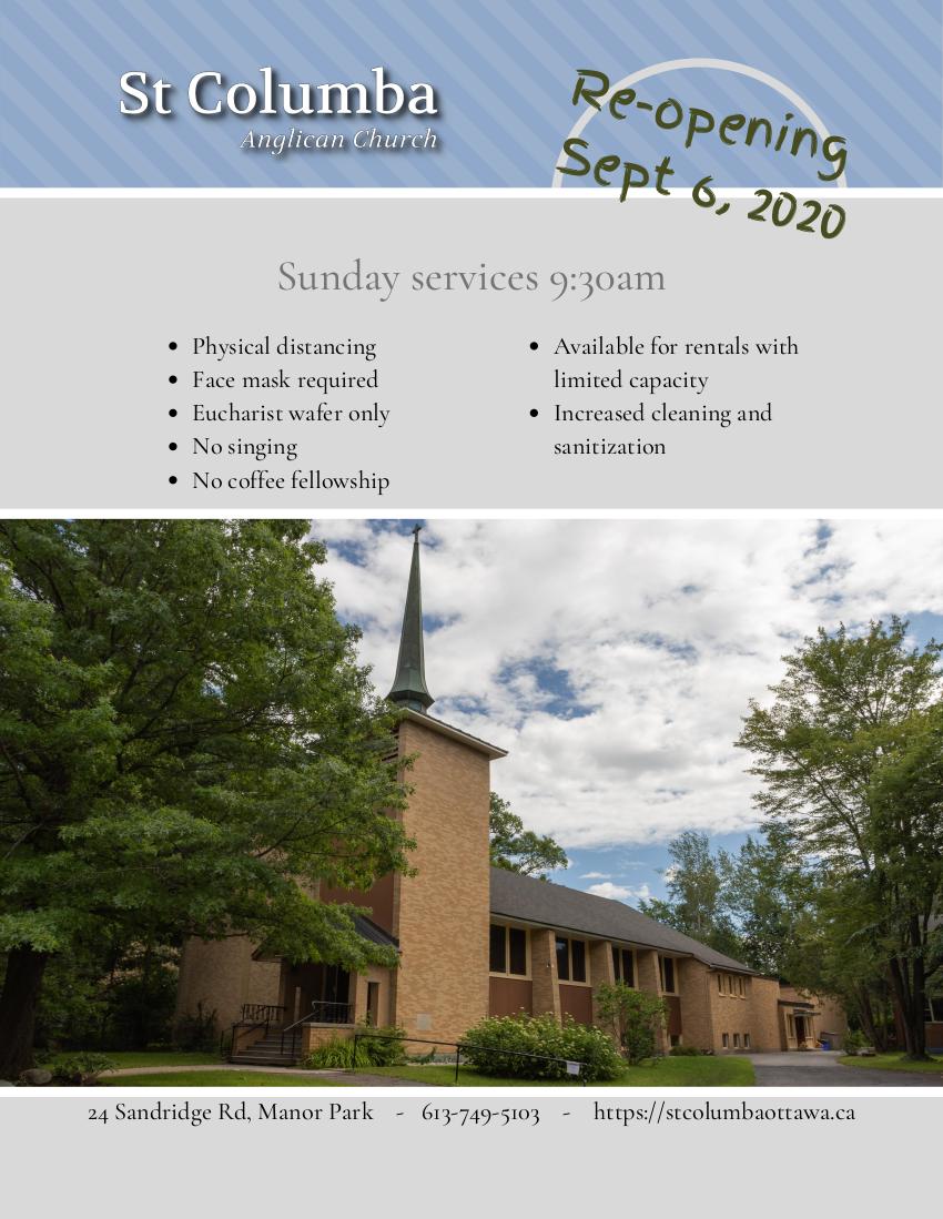 Church Re-opening